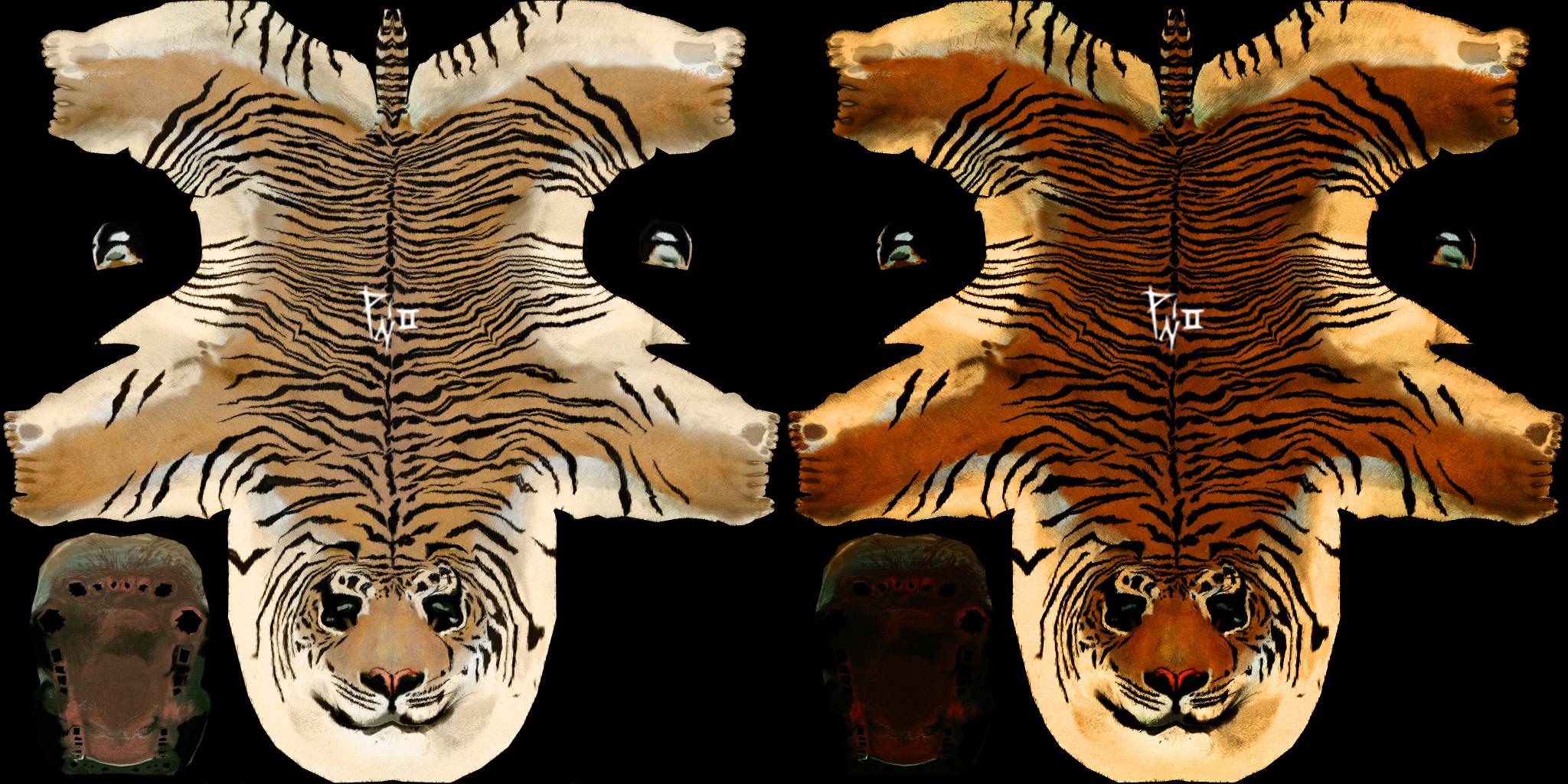 Uv maling tiger